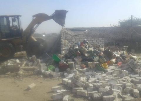 إزالة 32 حالة تعد على أملاك الدولة في بني مزار بالمنيا