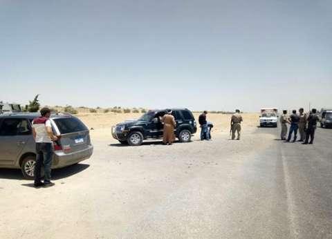 بالفيديو| انتشار أمني لقوات الأمن على الطريق المؤدي لدير الأنبا صمويل