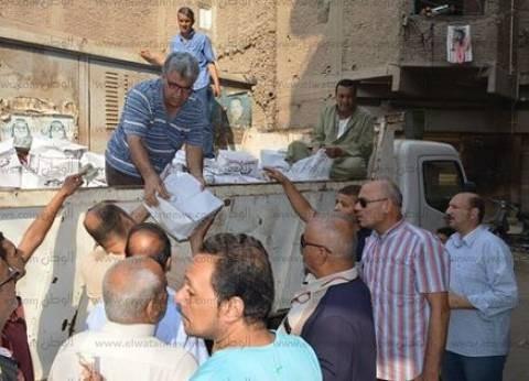 رئيس مدينة المحلة يتفقد مصنع تدوير القمامة لمتابعة سير العمل