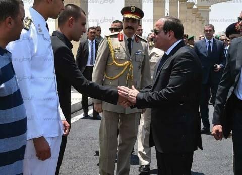 السيسي يشارك في تشييع جنازة قائد المنطقة الشمالية العسكرية