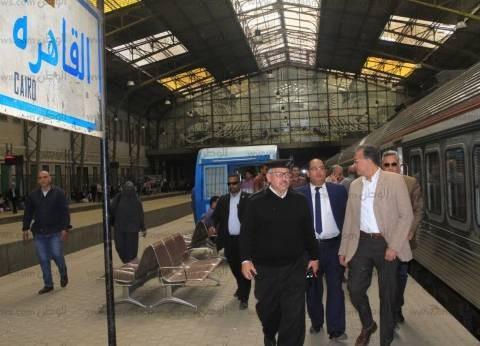 """رئيس """"السكة الحديد للخدمات"""" في جولة تفقدية بمحطات الشرقية"""