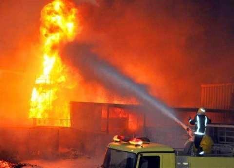 بالفيديو| حريق بقرية سلوا في أسوان