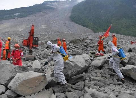 أوامر بإخلاء عمال إنقاذ الانهيارات الأرضية بالصين
