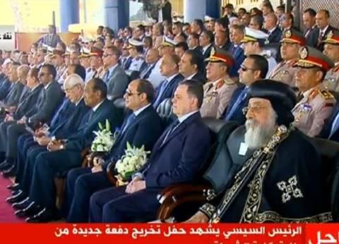 السيسي يطالب قائد طابور الشرطة بأداء سلاح سلام لنصر الشهداء: لن ننساهم