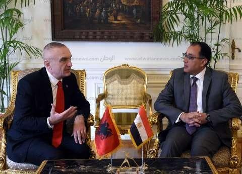 بالصور| رئيس الوزراء يستقبل رئيس جمهورية ألبانيا