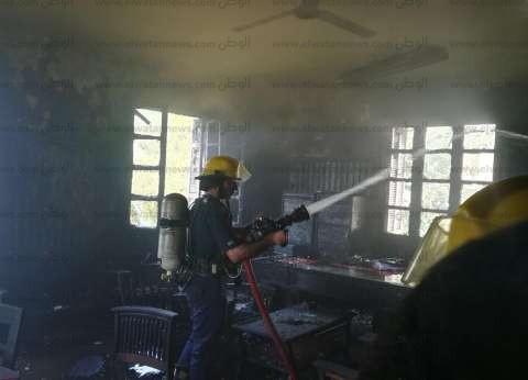 إخماد حريق نشب بـ3 منازل في المنيا