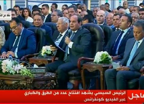 """بعد افتتاح السيسي.. أرقام بمشروعات """"الدائري الإقليمي"""" ومحاور النيل"""