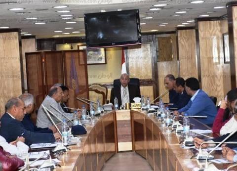 """محافظ أسوان يناقش الخطة الزمنية لأعمال صندوق """"تحيا مصر"""""""