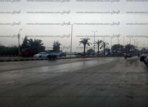 سقوط أمطار خفيفة على بعض مناطق محافظة أسوان