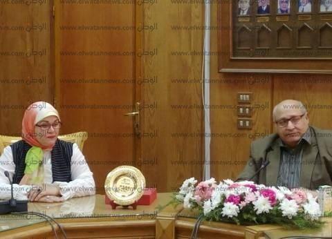 وفد من جامعة هانوفر يزور جامعة عين شمس