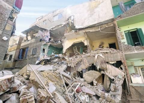 بالصور| انهيار منزل بجوار مدرسة ابتدائية في أسيوط وإلغاء اليوم الدراسي