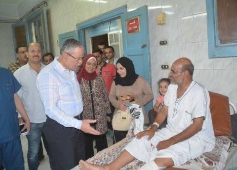 محافظ المنيا يتفقد المستشفي العام للوقوف على مدى توافر الرعاية الصحية