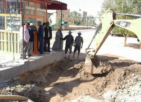 الانتهاء من إصلاح عطل خط مياه رئيسي بمركز الداخلة في الوادي الجديد