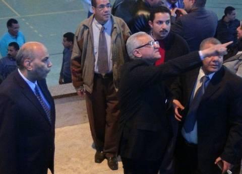 رئيس جامعة المنيا يتفقد تجهيزات أسبوع متحدي الإعاقة الأول