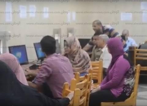 معامل جامعة عين شمس تواصل استقبال الطلاب في ثاني أيام التنسيق