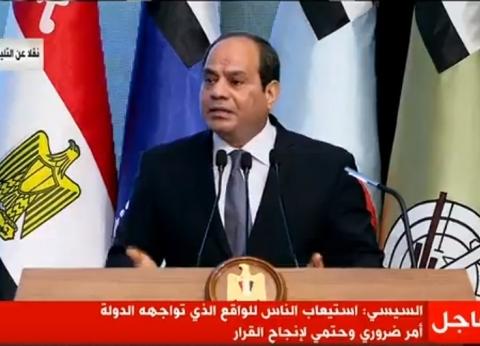 """السيسي: لا أريد رفع الأسعار لكن مصر تسير وفق """"ظروف محيطة"""""""