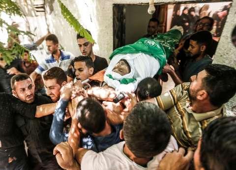 تشييع 3 فلسطينيين استشهدوا بنيران جيش الاحتلال جنوب غزة