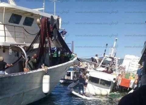 القوات البحرية تنقذ 13 صيادا من الغرق بعد شحوط مركبهم بالغردقة
