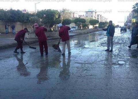 بالصور| شفط مياه المطر من شوارع دسوق بكفر الشيخ