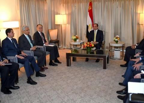 بالصور| السيسي يستقبل رئيس البنك الدولي لبحث جهود الإصلاح الاقتصادي