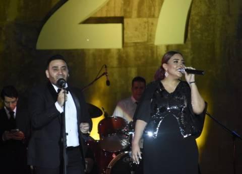 """بالصور  مي كساب تشارك مجد القاسم حفلته بـ""""مهرجان القلعة"""""""