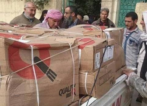 """""""الأورمان"""" توزع 23 طن لحوم وفراخ و7.8 طن زيت على الأسر الفقيرة بمطروح"""