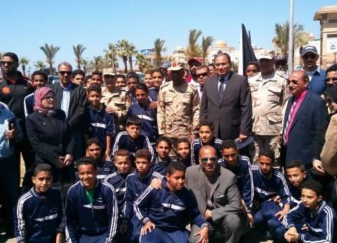 60 طالبا يشاركون في نموذج إدارة الأزمات والكوارث ببورسعيد