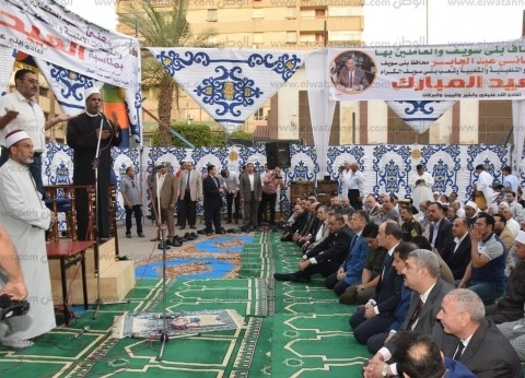 لأول مرة.. خطبة العيد بلغة الإشارة في 8 ساحات صلاة ببني سويف