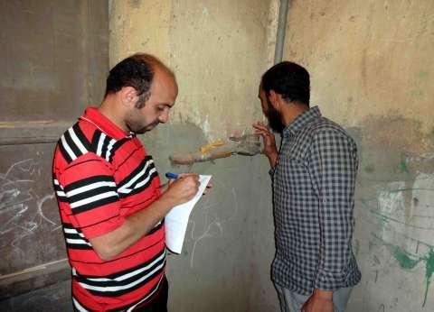 """""""مياه سوهاج"""" تفحص عدادات المواطنين في المنشأة"""
