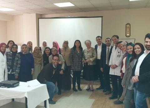 """""""بصيرة"""" تنظم زيارة لخبيرة طب عيون عالمية بمستشفى أبوالريش"""