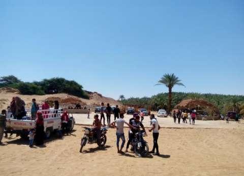 سكرتير عام محافظة الوادي الجديد يتفقد الحدائق العامة خلال أعياد الربيع