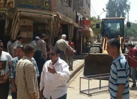 إزالة 345 حالة إشغال طريق بمدينة ناصر في بني سويف