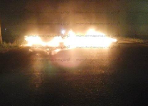"""عناصر """"الإخوان الإرهابية"""" يقطعون طريق """"كوم حمادة - الطودة"""" في البحيرة"""