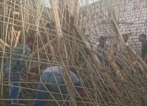 مصرع عامل وإصابة 6 في انهيار سقف مسجد تحت الإنشاء بالفيوم