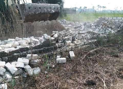 إزالة التعديات على الأراضي الزراعية بقرى دسوق في كفر الشيخ