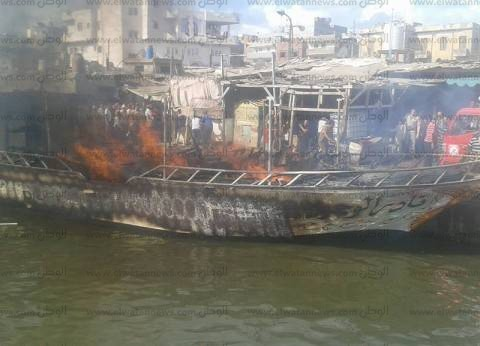 عاجل| إصابة 6 مواطنين في حريق بلانش لنقل الركاب ببحيرة المنزلة في الدقهلية