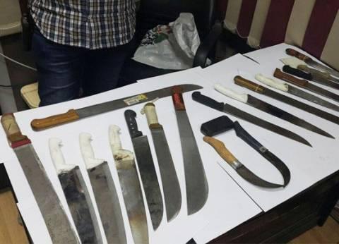 """""""أمن الإسكندرية"""" يضبط 44 شخصا لحيازتهم أسلحة بيضاء"""