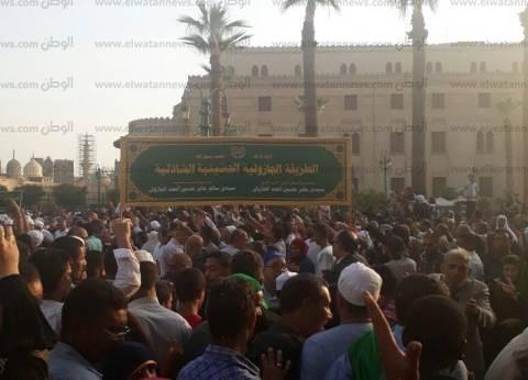 """""""القصبي"""" يستقبل مسيرة الطرق الصوفية أمام الحسين احتفالا بالعام الهجري"""