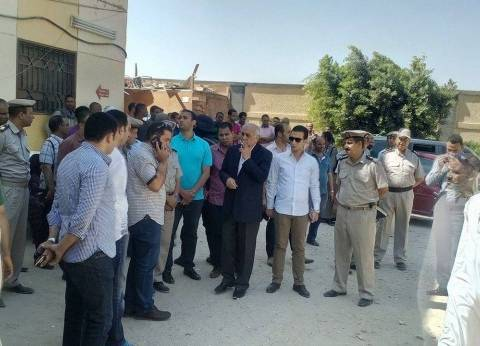مدير أمن المنيا يزور المصابين في حادث انقلاب سيارة شرطة بملوي