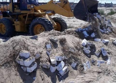تنفيذ 30 قرار إزالة تعديات على الأرض الزراعية وأملاك الدولة بكفر الشيخ