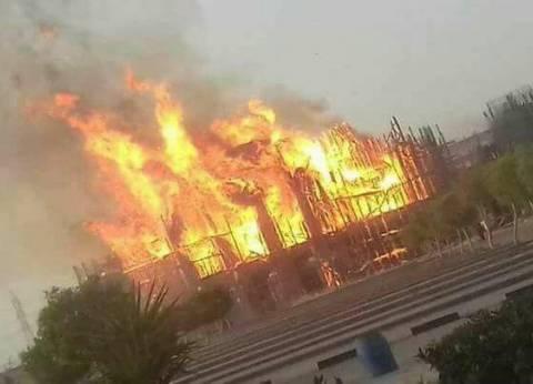 بالصور  تفاصيل حريق كنيسة تحت الإنشاء بدير مارمينا غرب الإسكندرية