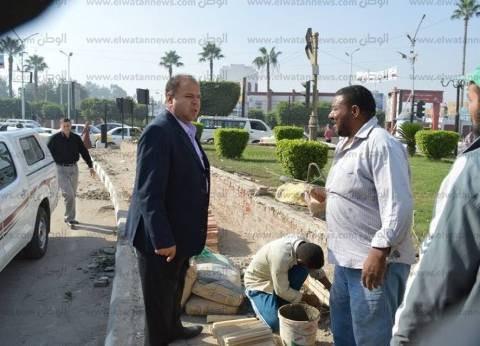 بالصور| رئيس كفر الشيخ يتفقد أعمال النظافة والتجميل ببعض المناطق