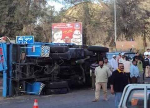 إصابة 6 في تصادم 5 سيارات على الطريق الدائري بنزلة أم بيومي