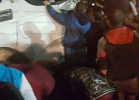 وصول مدير أمن الجيزة إلى موقع حادث المنيب