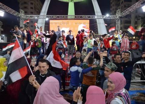 بالصور| احتفالات بالمنصورة لفوز الرئيس السيسي في الانتخابات