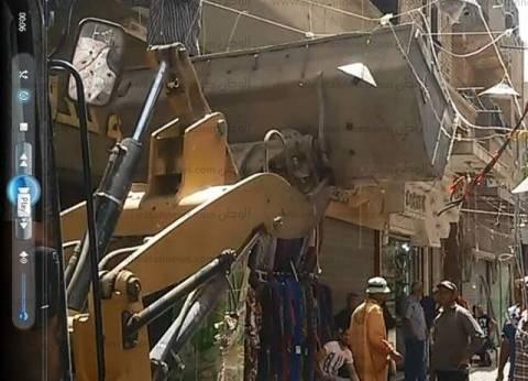 إزالة 500 حالة تعدٍ على الشوارع في جنوب بني سويف