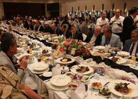 بالصور| محافظ جنوب سيناء يشارك فى إفطار الوحدة الوطنية بشرم الشيخ