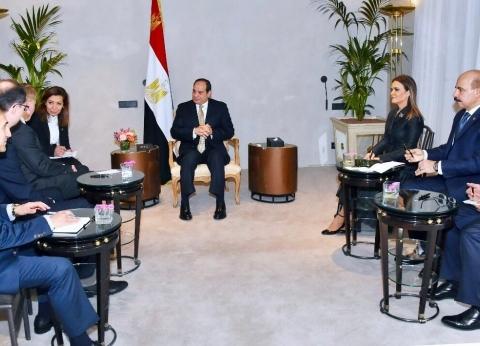 """السيسي يناقش مع رئيس """"تيسنكروب"""" إنشاء مجمع مصانع الأسمدة الأزوتية"""