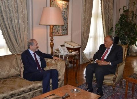 وزير الخارجية سامح شكري يستقبل نظيره الأردني لبحث العلاقات الثنائية والقضايا الإقليمية