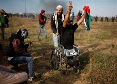 """""""على الأرض ما يستحق الحياة"""".. حكايات معاقين فلسطينيين بمسيرات العودة"""